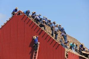 Men on roof